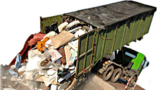 вывоз мусора контейнерами 27 кубов