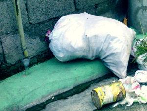 Вывоз мусора в мешках